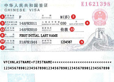 Visum China